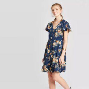Xhilaration V-Neck Button-Down Dress